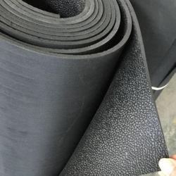 3mm para uso intensivo de patrón de cuero negro de goma de caucho SBR de la cáscara de naranja en el suelo Mat