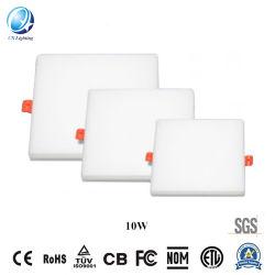 Garantía de 2 años Boardless ningún marco cuadrado de luz LED panel LED supermercado minorista buena promoción de distribución de LED panel LED 10W Bombilla