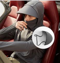 Anti-Ultraviolette Sun-Schützende Kleidung des Suntan-Upf50+ mit Sun-Schutzkappe für Männer
