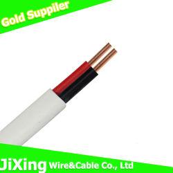 2core électrique double fil électrique de câblage de la Chambre l'Orateur câble plat
