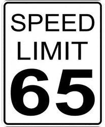 Segno d'avvertimento di sicurezza stradale di traffico di velocità di alluminio della strada principale