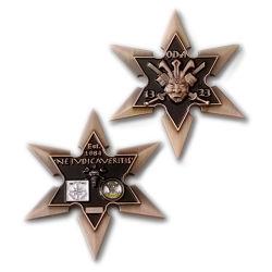 3D Desafio de orgulho da Marinha de níquel antigo Medalha Militar de moedas