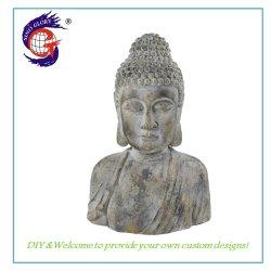 Grande scultura del Buddha di formato di effetto di superficie della decorazione di marmo della casa
