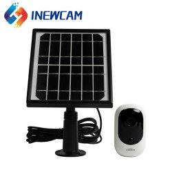 Pequeña Alarma PIR de 1080p Batería recargable de vigilancia por CCTV exterior Wire-Free Cámara IP con un panel solar