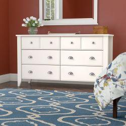 Des meubles anciens Table à café finition blanc doux commode 6 tiroirs Buffet for living Chambre à coucher