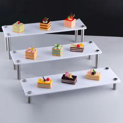 На заводе всеобщей 3 уровня ясно акриловый торт подставка для дисплея
