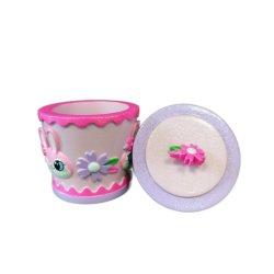 Résine peinte à la main rose Anti-Colored boîte cadeau de lapin pour les enfants Cadeaux