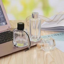 도매 작은 투명 유리 리드 디퓨저 아로마 병 에어 프레셔 컨테이너