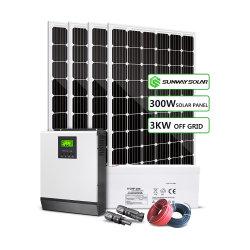 Солнечная панель 1Квт 2 квт 3 квт 5 квт 8 квт 10квт 15квт солнечной системы Grid для дома / Home солнечной системы питания