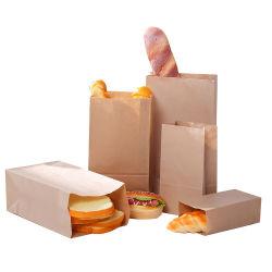 De gerecycleerde Zak van het Document van de Sandwich van Hamburg van het Brood van het Snelle Voedsel van Kraftpapier Beschikbare