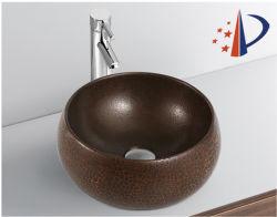 Sanitaires du monde de la première salle de bains apparence métal noir mat du bassin d'art