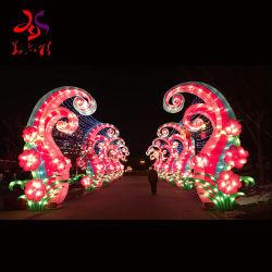 Festival de exterior decoración Lámparas de Año Nuevo Chino tradicional.