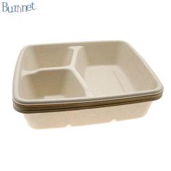 Personalizar Uncoating desechables Plastic-Free harina de caña de azúcar Caja con tapa