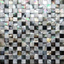 Luxe Zwarte en Witte Zeeschelp Mozaïek Tile Moeder van Pearl Back Splash Wall Tile