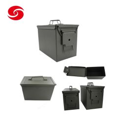 AU الجملة مقاومة للماء العسكر المعادن صندوق / جيش أخضر قياسي M2a1 Gd1002 حركة معدنية/علبة أدوات تخزين معدنية ذات رصاصة