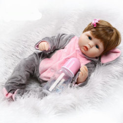 도매 큐트 리본 베이비 돌리 소프트 레알 터치 실리콘 비닐 돌롤 사랑스러운 아기 최고의 장난감 및 어린이를 위한 선물
