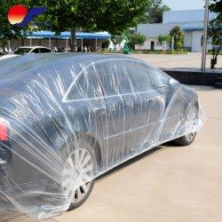 Vendita diretta in fabbrica rivestimento auto monouso trasparente PE Auto plastica Coperchio cofano