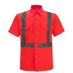 معدات الوقاية الشخصية أباريل بناء الأمن الداخلي المخصص قميص الأمان الرياضي التأملي