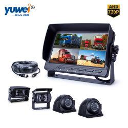 Quad-View 7 pouces HD 720p voiture Kit appareil photo de rétroviseur