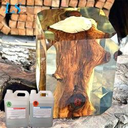 Río de vidrio con resina epoxi de peces de la luz de la tabla de resina epoxi resistente a altas temperaturas de madera