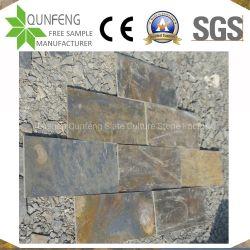 スレートのステップを舗装する中国の錆ついた石造りのタイル
