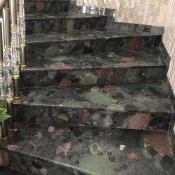 La piedra natural marrón/negro/gris/rojo/verde colorido piedra pulidas o bruñidas/granito flameado de piso/pared/EXTERIOR/baldosas de granito/escaleras/sills/columna/adoquines