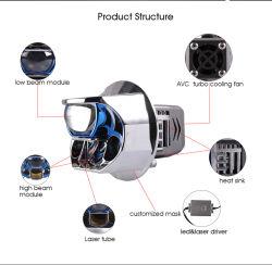 H1 Lámpara LED 2.5 3pulgadas mini proyector de LED de alta la luz de cruce colocar Len H4 H7 Toma H1 para el alquiler de automóviles de la Motocicleta HID FARO
