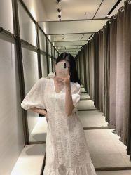 Vestir ropa casual mujer moda elegante vestido la camiseta de algodón blanco