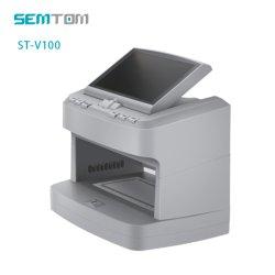 St-V100 multinacional Cash Currency Fake Magnifying Money contrafeito Detector por UV, mg, WM