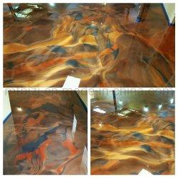 Metálico de resina epóxi para revestimento de piso