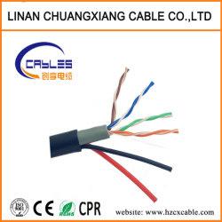 ケーブル4つのペアのUTP Cat5e Cable+の電源コードのコンピュータ