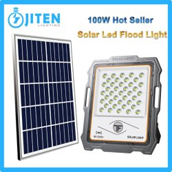 熱い販売人の屋外の産業照明太陽電池パネルの料金システムLED通り高い湾の壁の庭のおおいライトが付いている高い発電LEDの太陽洪水ライト