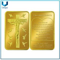 金型銅に 999 の良い金の長方形の記念品の硬貨、米国の自由記念品のための硬貨を打ったダイス