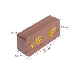 Deli LED Wood Desktop sveglia elettronica da viaggio