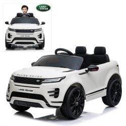 Pedal Eléctrico de cor branca controlada Gama Licenciado Passeio Rover no carro para crianças