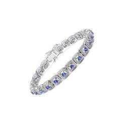 Пользовательские цвета камни кубических обедненной смеси 925 серебристые браслеты ювелирные украшения