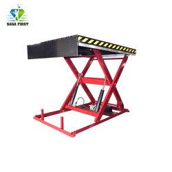 1a 3ton ton parado eléctrico pequeño elevador de tijera hidráulico