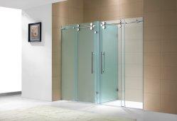 Frameless porte coulissante salle de douche douche double compartiment