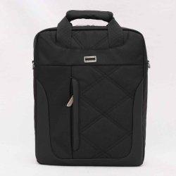 """Le toucher doux série--sac noir en Nylon Massage-Z805m-env. 14"""""""