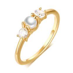 حلقة تعشبية يدوية من نوع Gold Pearl قابلة للضبط مقاس 1,5 مم للنساء