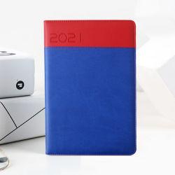 Promotion de la papeterie de bureau format A5 2021 Journal à couverture rigide en cuir pour ordinateur portable de PU avec logo personnalisé
