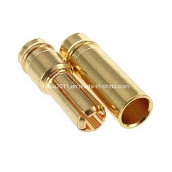 Gold überzogener Gewehrkugel-Batterie-Terminalbananen-Stecker-Bolzen