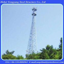 4 pernas galvanizado Tubular Torre de aço de radiodifusão de televisão via satélite