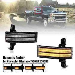 Luz lateral LED para Chevrolet Silverado 1500 HD de 2500HD 3500 GMC Sierra secuencial de la Luz de Luz indicadora de giro con bujías