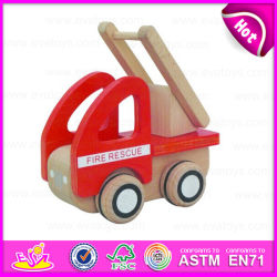 2015 последней стиле деревянные игрушки Fire погрузчика в детстве, строительство деревянных игрушек, рождественские подарки деревянная игрушка Fire погрузчик W04A101
