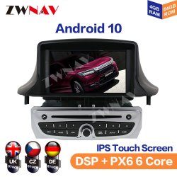 Android Market 10.0 Px5/6 aluguer de DVD para o Renault Mégane 3/Renault Fluence 2009+ Stereo auto-rádio de navegação GPS Rádio Gravador de fita