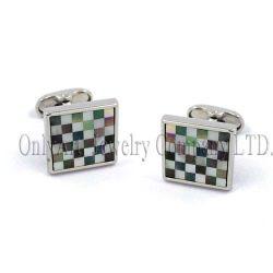 Argento puro composto a mano mosaico del Mop di colore 925 gemelli (OACL0462)