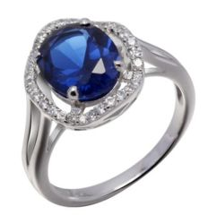 Sterling Sappire Sivler Ring Ring