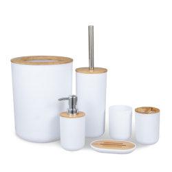 2021의 최소한 성격 대나무 플라스틱 목욕 부속품 목욕탕 세트