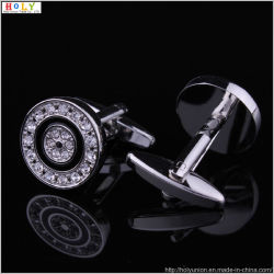 Les boutons de manchette ronde Silver Liens brassard hommes Brassard (Hlk30905 (2))